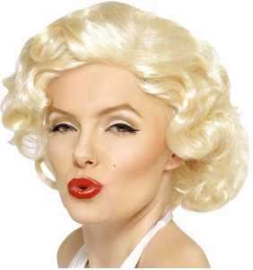 "Perruque blonde Marilyn Monroe ""Poupoupidou"""