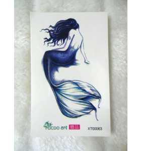 "Tatouage temporaire sirène ""Beautiful mermaid"""