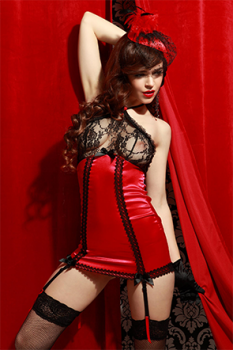 Collection de lingerie pinup sexy satin et dentelle