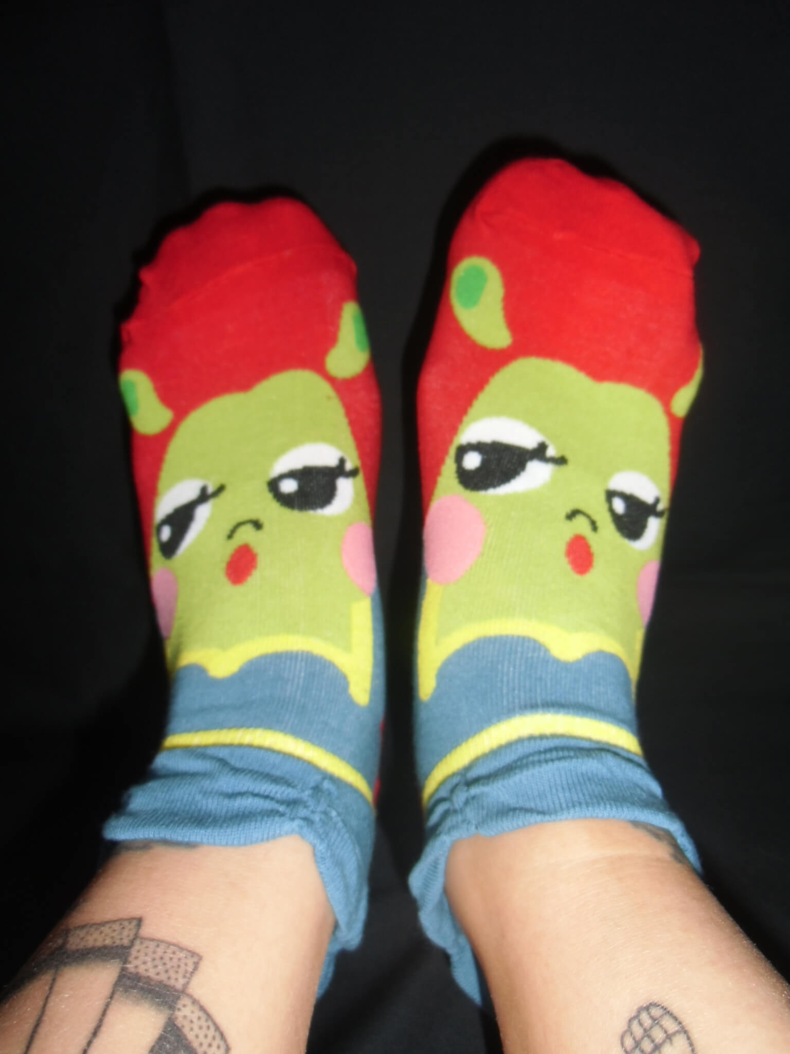 Chaussettes princesse cartoon ogresse Shrek Fiona