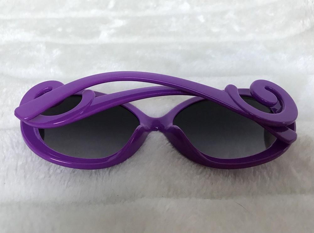 Lunettes de soleil rétro oversize monture violette 8ca271ac9bd6