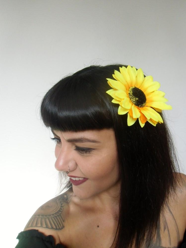 À Pin Up Fleur Tournesol Sunflower Clip Pince De Cheveux TPZkXOuwi