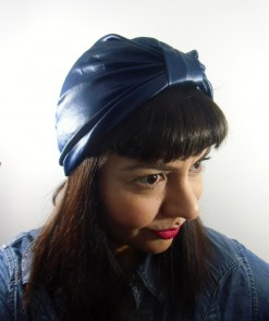 Bonnet turban original simili-cuir wetlook