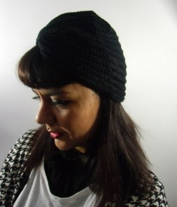 Bonnet turban simple en maille laine