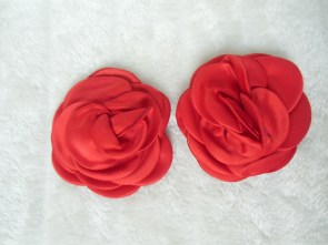 Cache-tétons nippies forme rose rouge