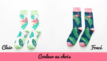 chaussettes-flamants-roses-claires-foncees