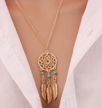 collier-dreamcatcher-attrape-reves-dore-turquoises