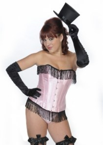"Corset ""Pin-up' fringes"""