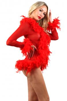 deshabille-rouge-sexy-court-resille-plume-2