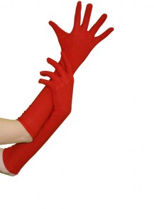 Gants pinups rouges mi-longs 40cm sexy