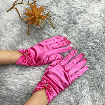 gants-courts-satines-roses-fuchsia-perle-bijou-finition-argentee