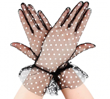 gants-courts-transparents-noirs-pois-blancs