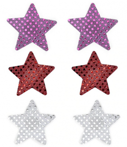 Lot de 3 paires de cache-tétons nippies étoiles brillantes