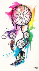 Tatouage temporaire original dreamcatcher aquarelle