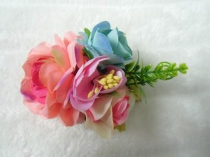 Pince clip à cheveux broche composition florale