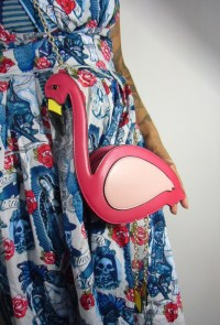 Sac à main original flamant rose girly et pinup