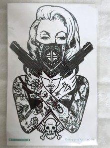 Tatouage temporaire Marilyn Monroe gangster