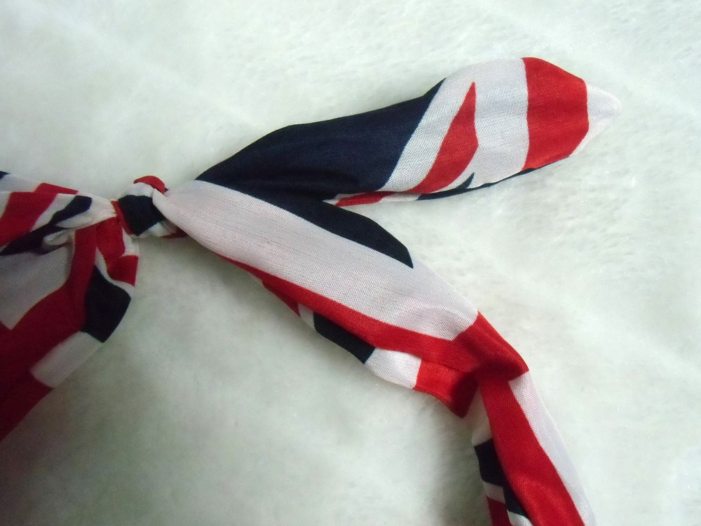 Serre t te original fin et rigide tissu drapeau anglais - Tissu drapeau anglais ...