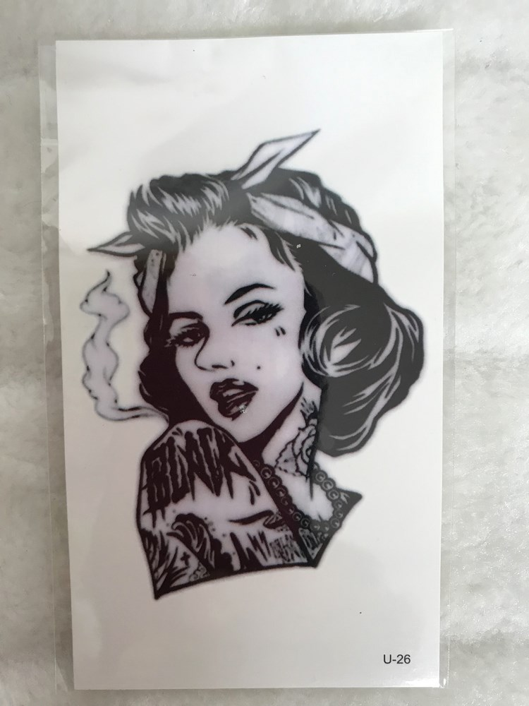 Tatouage temporaire Marilyn Monroe bad girl tatouée