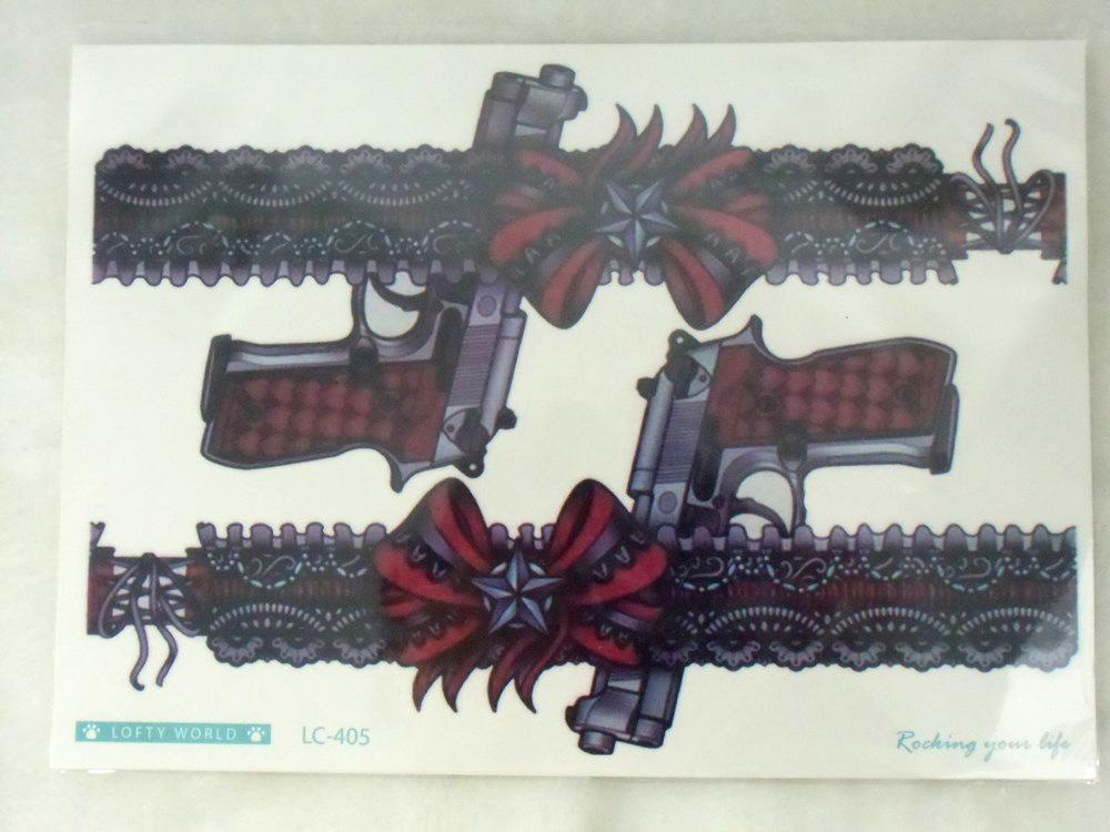 Tatouage Temporaire Original Jarretieres A Pistolets