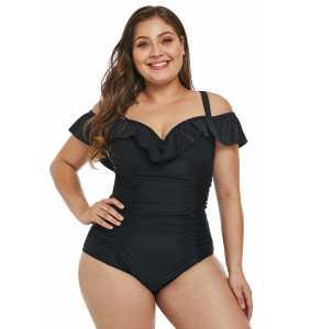 """Maillot de bain noir épaules dégagées 1 pièce """"Perfect swimsuit"""""""