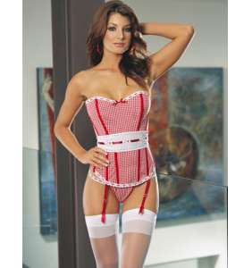 """Corset vichy rouge """"Country girl"""""""