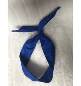 """Bandeau à cheveux rigide bleu roi satiné """"Blue satin"""""""