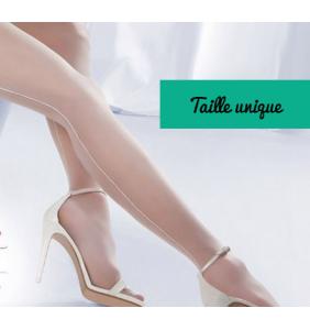 """Bas couture blancs pour porte-jarretelles """"Sexy pinup legs"""""""
