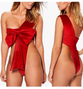 "Body en velours rouge noeud de paquet cadeau ""Sweet gift"""