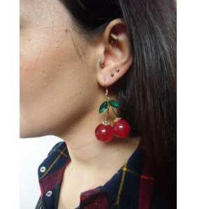 """Boucles d'oreilles cerises """"Retro cherries"""""""