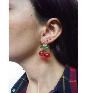 """Boucles d'oreilles cerises """"Retro pinup cherries"""""""