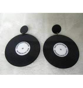 "Boucles d'oreilles disques vinyles ""Retro music in my ears"""