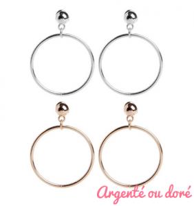 """Boucles d'oreilles anneaux rétro """"Retro hoops"""""""