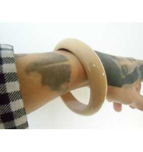 """Bracelet rétro simple en résine ocre """"Ocre bangle"""""""
