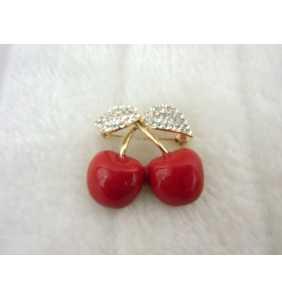 "Broche cerises ""Pinup cherries"""