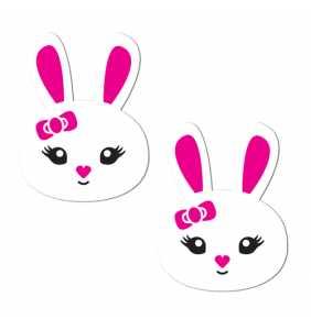 "Cache-tétons lapins blancs ""Sweet white bunnies"""