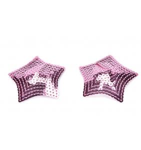 """Cache-tétons étoiles roses en sequin """"Sequined stars"""""""
