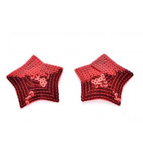 """Cache-tétons étoiles rouges en sequin """"Sequined stars"""""""