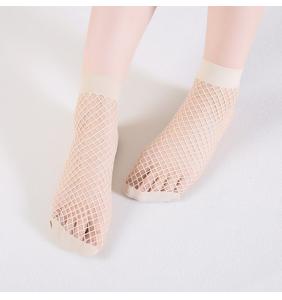 """Chaussettes basses beiges en résilles """"Beige fishnet socks"""""""