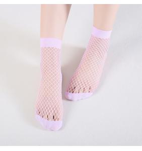 """Chaussettes basses mauves en résilles """"Lilac fishnet socks"""""""
