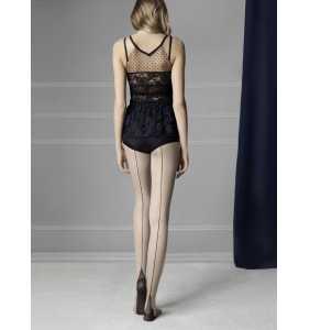 "Collants chair couture noire cuban heels ""Sin"""