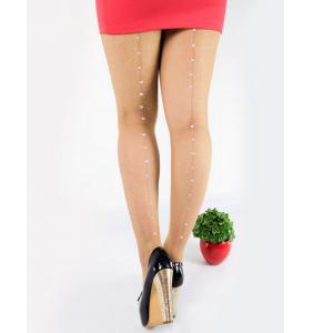 """Collants résilles chair à couture à strass """"Shiny tights"""""""