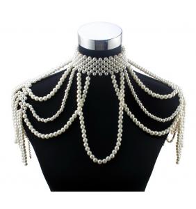 """Collier bijou d'épaules en perles """"Pearly shoulders"""""""