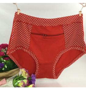 """Culotte rouge à pois """"Pocket panty"""""""
