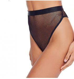 """Culotte taille haute noire en résilles """"Sexy fishnet panty"""""""