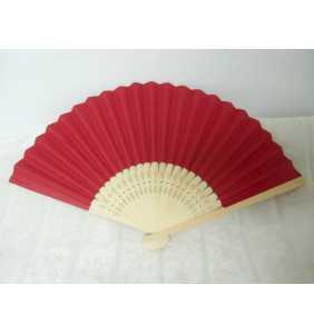 "Eventail bambou et papier rouge bordeaux ""Burgundy red pin-up fan"""