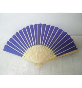 """Eventail bambou et papier violet """"Purple pin-up fan"""""""
