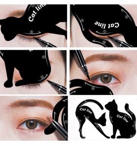 """Lot de deux guides eyeliner et ombre à paupières """"Cat lines"""""""