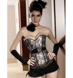 """Corset façon dentelle """"Ivory & black lace"""""""