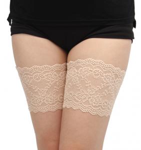 """Paire de jarretières couleur chair autofixante anti frottement des cuisses """"Perfect thighs"""""""